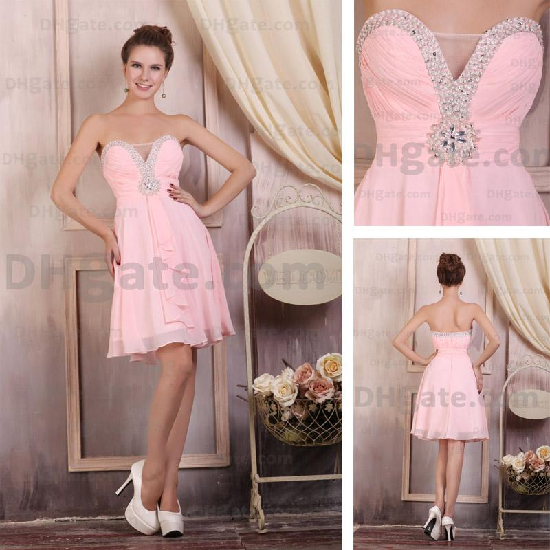 pink party dresses