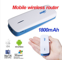 Wholesale 5 in G Mobile Wireless Router Broadband Power WiFi Hotspot Power Bank mAh
