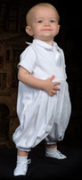 baby boy ivory - Lovely White Baby Boy Short Sleeves Taffeta Match Christening Gown