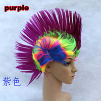 Wholesale mohawk party wig Halloween party props Performing props Cartoon COS type