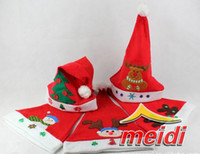 Wholesale 2012 Christmas hats Christmas new Nonwoven embroidered Christmas hats decoration christmas gift
