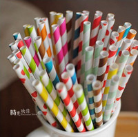 Wholesale mixed Striped amp Polka Dot Drinking Paper Straws drinking straw for party favor