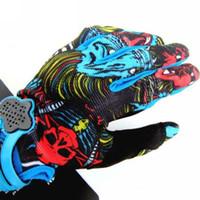 Hot Men's Motocross gloves Skull Bomber Motorcycle Gloves Fo...