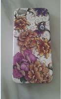 Wholesale Relief Flower Cover Case For Iphone Hard Plastic Made Case for iphone with retail box Free Ship