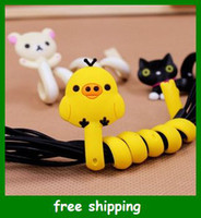 Wholesale Cute Rabbit cable winder animals Moblie Earphone bobbin winders reel management Gifts