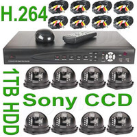 8   CCTV Security 8 Sony CCD Dome Cameras H.264 1TB HD H.264 DVR Surveillance System