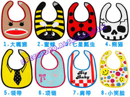Wholesale Foreign trade the original single baby waterproof bib rice pocket saliva towel saliva shoulder
