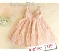 Baby girl kids lacy dress lace dress crochet dress flower tu...
