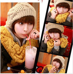 Wholesale Fashion Hot Korean Style Ladies Pineapple Hat Autumn amp Winter Warm New Wool Cap Kintted Cap Hat