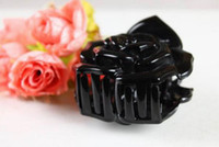 South American anna rose hair - 4PCS Anna Queen Attractive Rose Claw Hairclips for a Stronger Hair Hold Black