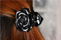South American anna rose hair - 10PCS Anna Queen Attractive Rose Claw Hairclips for a Stronger Hair Hold Black