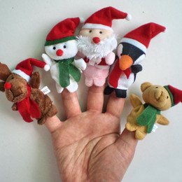 Christmas animal Baby Plush Toys Finger Puppets Talking Props Multi-function educational toys 50pcs
