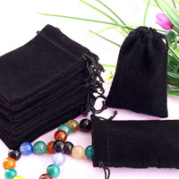 Wholesale x9cm Velvet Drawstring Organza Pouch Bag Jewelry Bag Christmas Wedding Gift Ba