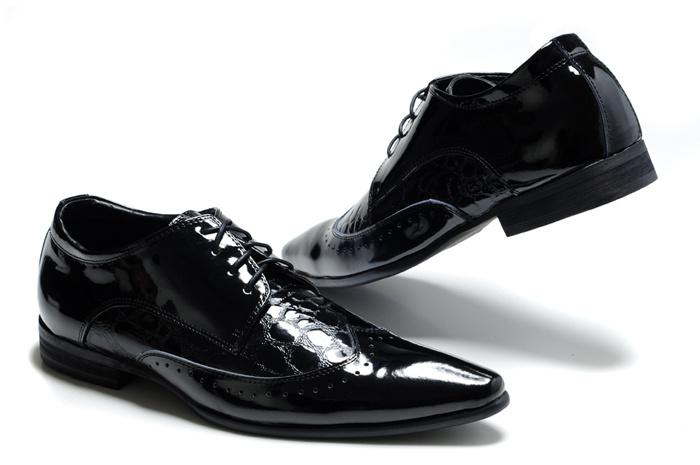 Paris Men's Black Dress Shoes Mens Patent Leather Office Shoes ...