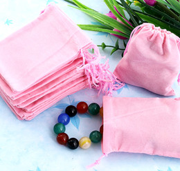 Free Shipping 100Pcs 7x9cm Pink Velvet Drawstring Pouch Bag Jewelry Bag,Christmas Wedding Valentine's Day Party Gift Bag