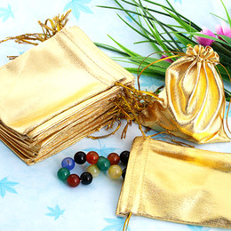 New Arrival 100Pcs 10x12cm Golden Drawstring Organza Pouch Bag Jewelry Bag Christmas Wedding Party Gift Bag Suitable for Jewelry Hot Sale