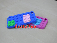 Wholesale Block brick building Soft silicone rubber gel Case skin cover cases For Ipod touch th