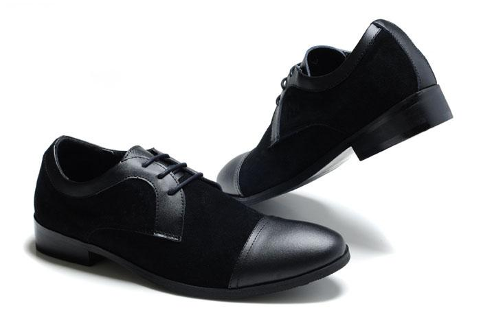 Paris Mens Black Dress Shoes Mens Leather Office