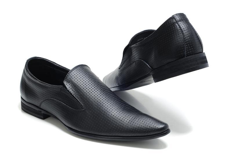 Paris Men's Black Dress Shoes Mens Leather Office Shoes Sneaker ...