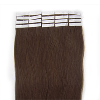 Wholesale 16 quot quot set tape in hair extensions remy human hair extensions medium brown sets