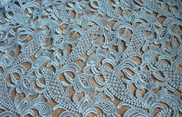 Wholesale 120cm Embroidered for Valention show pale light blue lace fabrics