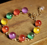 Wholesale European Colorful Candy Colored Beads Crystal Bracelet Drop Shipping