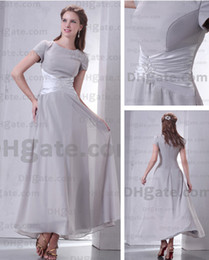 Wholesale Custom Made Hot Sexy Short Sleeves Chiffon Ankle Length Mother of the bride dresses DHgate00207