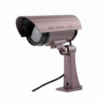 Wholesale New New Outdoor Dummy Security Camera with Red LIGHT Fake Surveillance