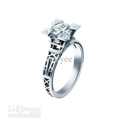 Eiffel Tower Ring Paris Tower 925 Silver Ring French Champs
