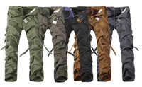 Wholesale New Pure cloth Thicken Washing Multi Pocket Male Camouflage Pants Casual Overalls Men s Pants