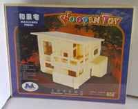 Wholesale New Wood Assembly DIY toy for D wooden model puzzles of wind house