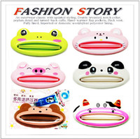 Wholesale Novelty Cute Cartoon Mouth Extrusion of Multi purpose device Easy Squeeze Toothpaste Dispenser