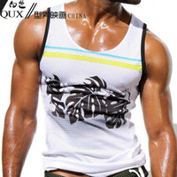 Wholesale AQUX and retail POLYESTER sexy fashion breathable mesh men s sports ves