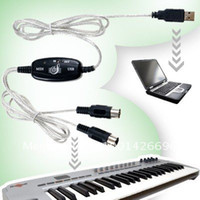 Wholesale 100 M USB Interface to MIDI Converter Adapter Cable for Keyboard PC XP Vista MAC