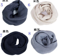 Wholesale Wear Reactor Brought Circle Set Of Shag line collar scarf knitting New