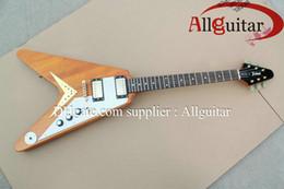 Voler v en Ligne-1958 Korina Flying V guitare électrique Chine Guitare
