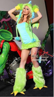Wholesale carnival Women Sexy Plush Furry Dinosaur Costumes Cosplay Witches Gothic Beauties Nightclub DS Animal Apparel xmas