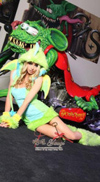 Wholesale Easter Lady Sexy Plush Furry Dinosaur Costumes Cosplay Witches Gothic Beauties Nightclub DS Animal Apparel
