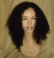 Wholesale inch b jerry curl Remy indian human hair wig Front Lace Wig Glueless Wig