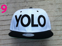 Wholesale YOLO Snapback for hats for YOU ONLY LIVE ONCE snap backs caps adjustable hip hop rock baseball hat