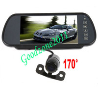 Wholesale 7 quot LCD Monitor Mirror Car Rear View Kit Mini Reverse Camera degree