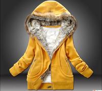 Wholesale New Fur Collar hooded women clothing Autumn loose cotton guard coat hat outerwear hoodies M L XL
