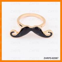Western Unisex Party 120 pcs  lot black moustache ring one finger ring jewellery men ring promise ring ZHRPS-92067