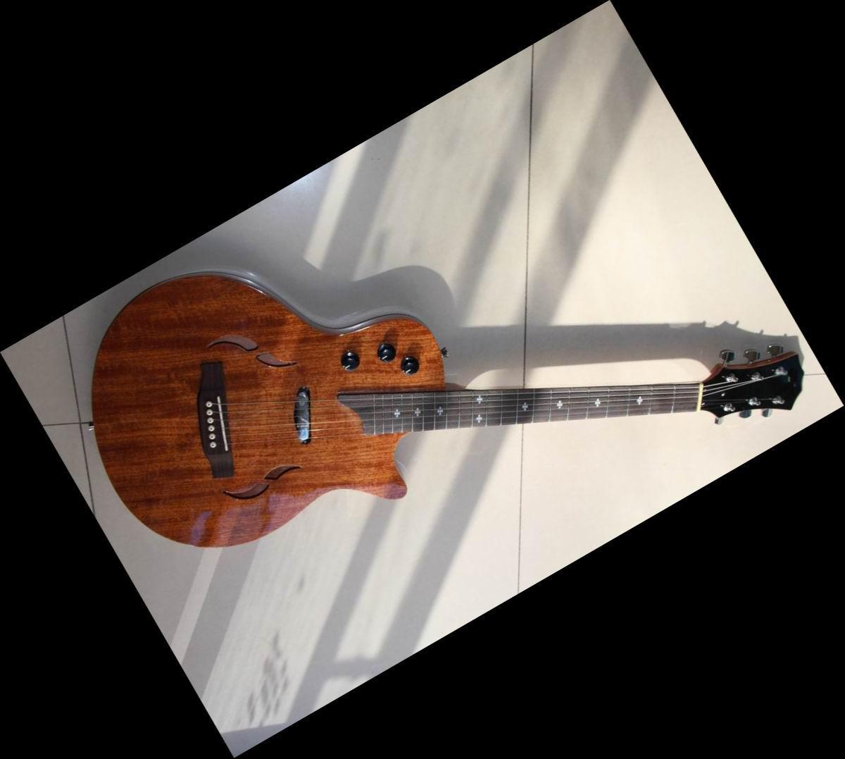 Buy Classic arrival T5 Acoustic Guitar WOODEN jazz guitar 12 10 08