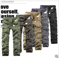 Wholesale New HOt Italian edition Thicken Washing Multi Pocket Men s Camouflage Casual Overalls Pants