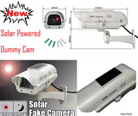 Wholesale Solar Power Dummy Fake Security CCTV CCD Flashing LED Camera professional Surveillance