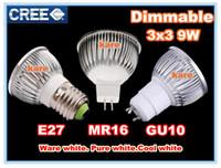 Wholesale Promotion Retail High power CREE W W W Dimmable GU10 MR16 E27 E14 B22 Led Light Lamp Spotlight bulb downlight lighting