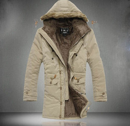 Wholesale 2013 new men s Jacket coats Hooded Faux Fur collar coat Thickening plus velvet coats Outwear
