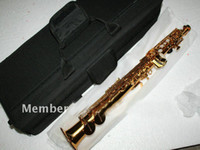 Gold Lacquer advance saxophone - best Newest Brand High Quality Soprano Saxophone Golden Advanced IN STOCK