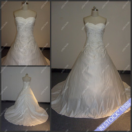 Wholesale SW07 Crazy Selling White Sweetheart Beaded Ball Gown Open Back Wedding Gowns